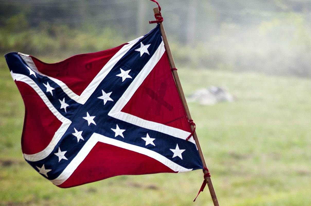 racism is woven into the fabric of the confederate flag the